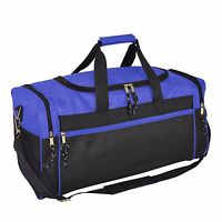 Brand New Duffle Bag Duffel Bag Large in Royal Blue and Black Gym Bag 043ca84aa1948