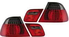 Back Rear Tail Lights Lamps Red-Black LED Pair For BMW E46 Coupe 99-3/03 - On