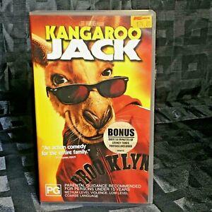 2003 VHS Kangaroo Jack PAL PG Australian Family Movie Bonus 50min Looney Tunes