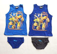 128 Unterwäsche Unterhemd Trägerunterhemd Jungen Blau Gr.116 152,164