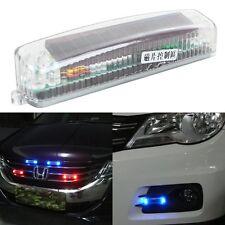 Solar Wireless Car Grill LED Strobe Flashing Light Warning Emergency Fog Lamp