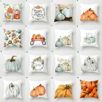 Fall Halloween Pumpkin Pillow Case Waist Throw Cushion Cover Sofa Home Decor UK
