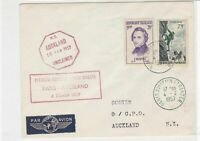 France 1957 Paris Cancel to N.Z. Airmail Unclaimed Stamps Cover ref R16722