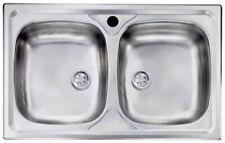 Lavello da incasso per top cucina 2 vasche da 86 cm