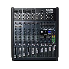 Alto Professional Live 802 8 Channel 2 Bus Live Sound/Studio Mixing Board Mixer