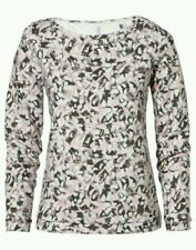 O'NEILL Womens White Pink Grey Allover Crew Neck Sweater Small BNWT