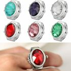 Oval Stone Elastic Band Ring Watches Jewelry Quartz Finger Watch One Size Gifts