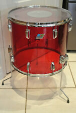 """1970's LUDWIG 18"""" CLASSIC RED VISTALITE FLOOR TOM for YOUR DRUM SET! LOT #G267"""
