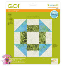 """Accuquilt GO! Cutter Fabric Die Churn Dash 9"""" Finished Quilt Sewing 55339"""
