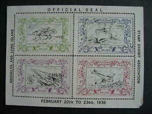 USA 1936 Brooklyn exhibition Balisea labels with margin faults check them out!