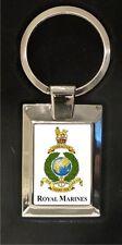 Royal Marine crest - high polished metal keyring