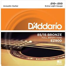D'addario EZ900 85/15 Bronze Acoustic Guitar Strings Extra Light 10-50