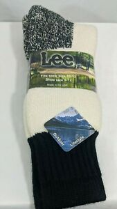 Lee Outdoor Lifestyle Cotton Acrylic Blend Socks Men's Size 10-13 USA Made