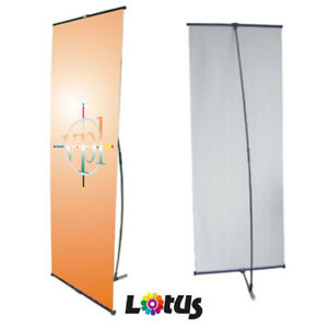 Lightweight L Shape Banner Stand Advertising Display Trade shows & Exhibition