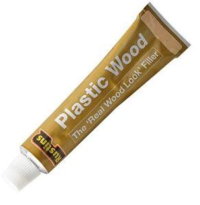 Rustins Plastic Wood Filler Comes with Free Applicator Teak Oak Mahogany Natural