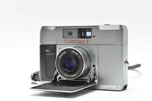 [LENS MINT] CONTAX T Silver Rangefinder 35mm Film Camera Body Only From JAPAN