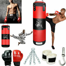 Heavy Boxing Punching Bag Training Gloves Set Speed Set Kicking Mma Workout Gym