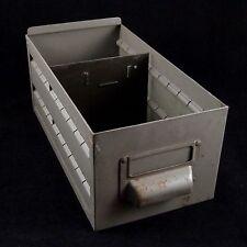 Gray Metal Cabinet Drawer Bin + Divider Industrial Steampunk Decor Industrial