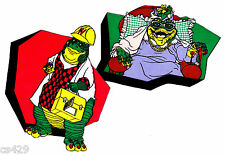 """7.5"""" DINOSAURS TV SHOW  SINCLAIR CHARACTER PREPASTED WALLPAPER BORDER CUT OUTS"""
