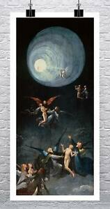 Ascent of the Blessed 1490 Hieronymous Bosch Rolled Canvas Giclee Print 17x34 in