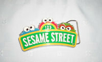 "2011 Sesame Street Workshop Collectible Metal Belt Buckle  5""x2"""