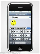 Personalised Iphone Mobile Edible icing Birthday Cake Topper Rectangle