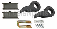 "Lift Kit Chevy Black Torsion Keys 2"" Fab Steel Blocks 1992-99 4x4 8 Lug Trucks"