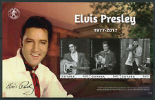 Guyana 2017 MNH Elvis Presley 40th Memorial 3v M/S II Music Celebrities Stamps