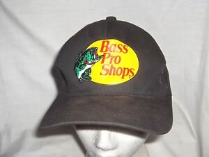 #2263C - BASS PRO SHOPS LUCKY FISHING CAP, HAT - BLACK WITH MESH BACK