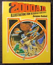 1973 2000 A.D. Illustrations Golden Age Sci-Fi Pulps by Jacques Sadoul VF- 7.5