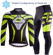 Winter Cycling Jersey & Pants Sets Fleece Bike Clothing Warm Biker Sportwear