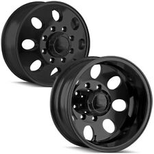 "Set of 4-17"" Ion 167 Dually 8x165.1 (8x6.5"") Matte Black Wheels Rims"