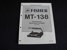 Original Service Manual Fisher MT-138