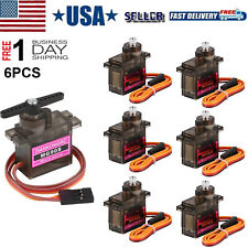 6Pcs MG90S Micro Servo Motor Metal Gear For Helicopter Car Racing Plane Boat US