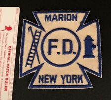 Marion Fire Department Patch Wayne County New York NY Very Old