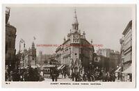Sussex Hastings Albert Memorial Clock Tower Real Photo Vintage Postcard 6.12