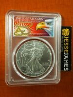 2019 SILVER EAGLE PCGS MS70 THOMAS CLEVELAND FIRST DAY OF ISSUE FDI EAGLE LABEL