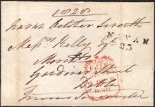 1828 PRE-STAMP WRAPPER FROM NAVAN (IRELAND), FREE FRANK MERMAID REMOVED
