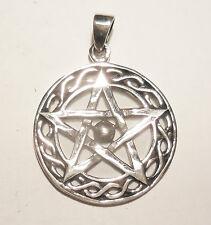 Anhänger Kette PENTAGRAMM Talisman Amulett ECHT Silber 925 Schutzzeichen SS70