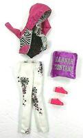 Barbie Vintage Fitting Outfit For Hannah Montanna Plus Shoes Pillow Zebra Jacket