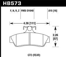 Hawk HP+ Rear Brake Pads For 04-06 Pontiac GTO #HB573N.615