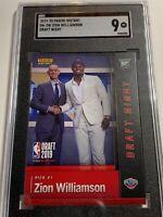 PSA 9 2019-20 Panini ZION WILLIAMSON DRAFT NIGHT INSTANT ROOKIE CARD DN-ZW NBA