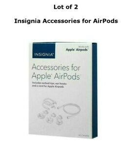 Lot of 2 Insignia NS-CAHAPA Accessories for Apple AirPods White Free Shipping