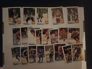 1990-91 Topps Team Scoring Leaders 21-Card Set Gretzky Lemieux Yzerman Sakic