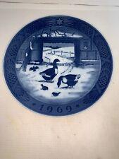 "Royal Copenhagen ""In the Old Farmyard� Collector Plate 1969"