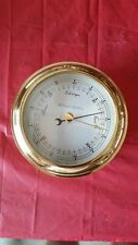 barometer&ship bell clock weems&plath bronze excellent condition factory seviced