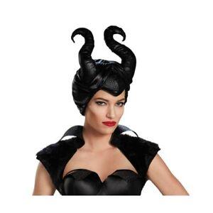 Official Disney Super Soft Maleficent Movie Villains Horns Halloween Fancy Dress