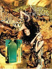 Publicité Advertising  0817  1994  parfum femme Nuits Indiennes JL Scherrer *