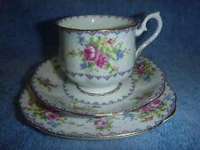 "Royal Albert ""Petit Point"" Tea Cup Trio."