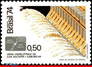 1371 BRAZIL 1974 HYDROELECTRIC, DAM OVER PARANA RIVER, ELECTRICITY, MI# 1462 MNH